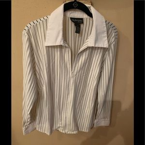 Pin Stripe Zip Blouse